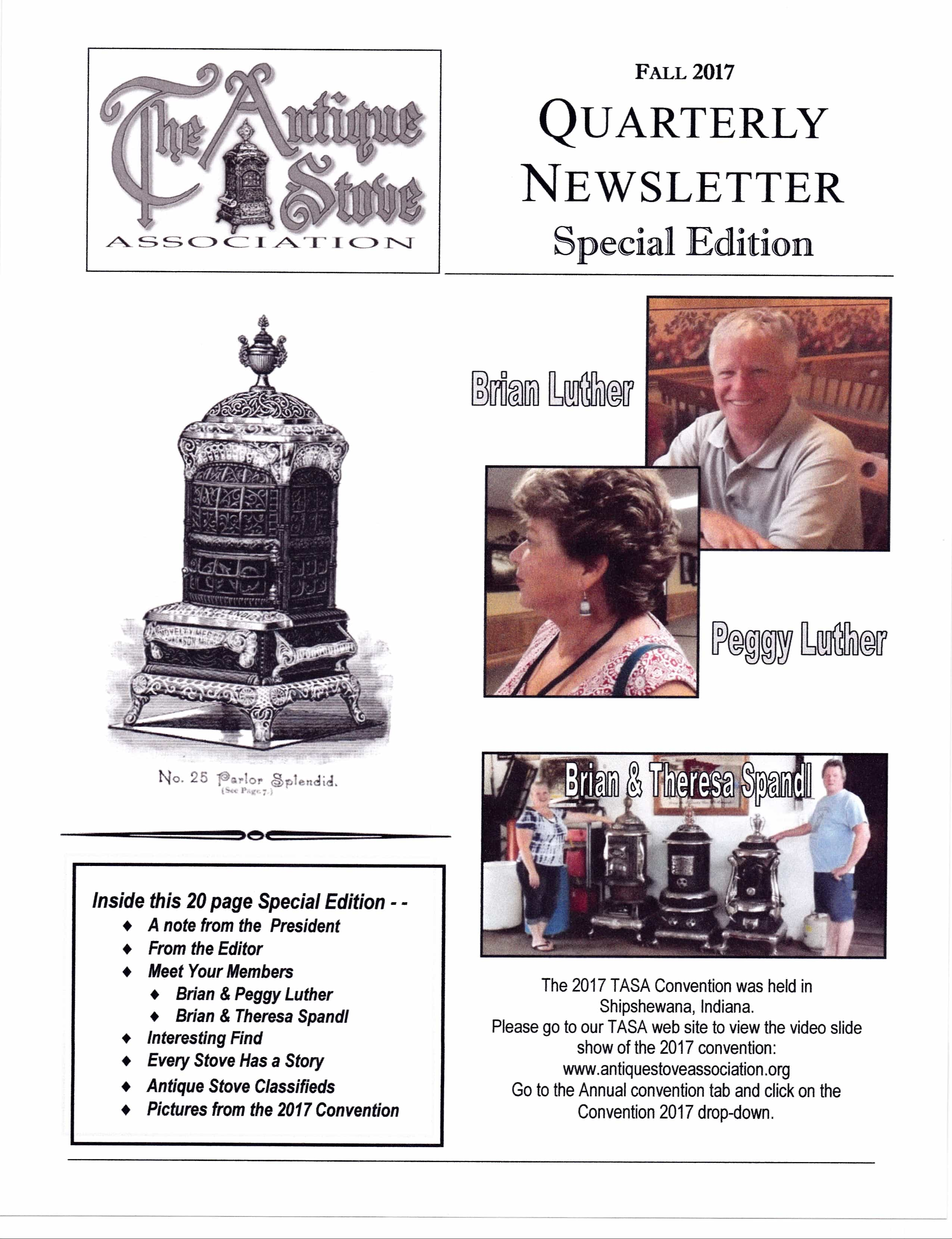 Fall Quarterly Newsletter Special Edition
