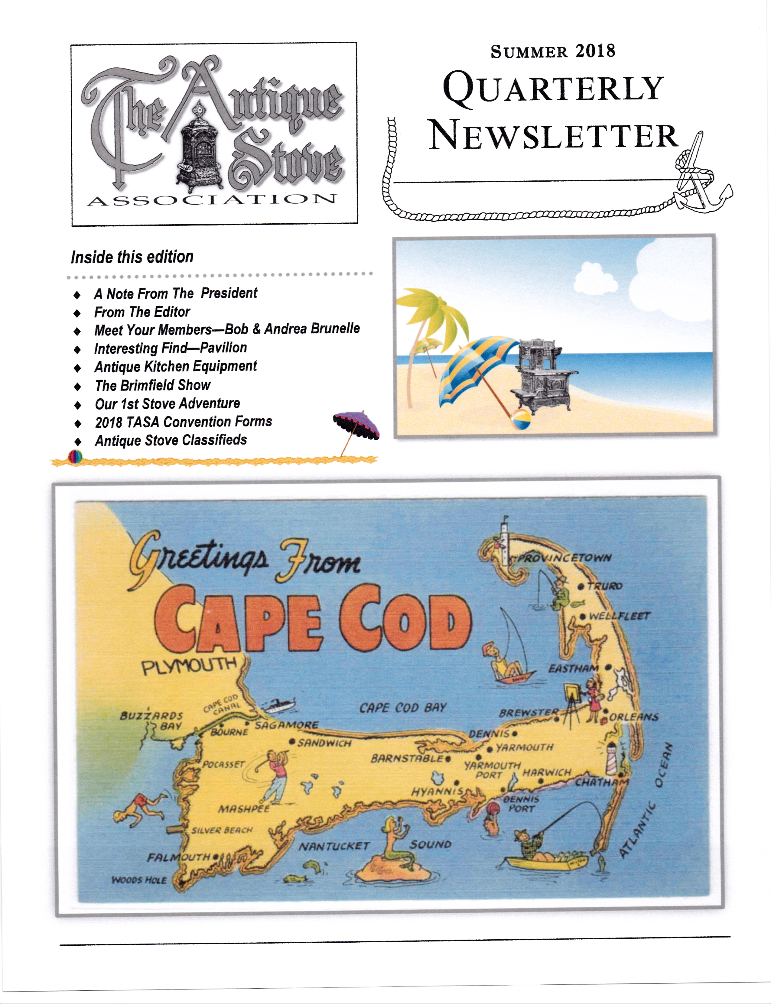 TASA 2018 Summer Newsletter Cover