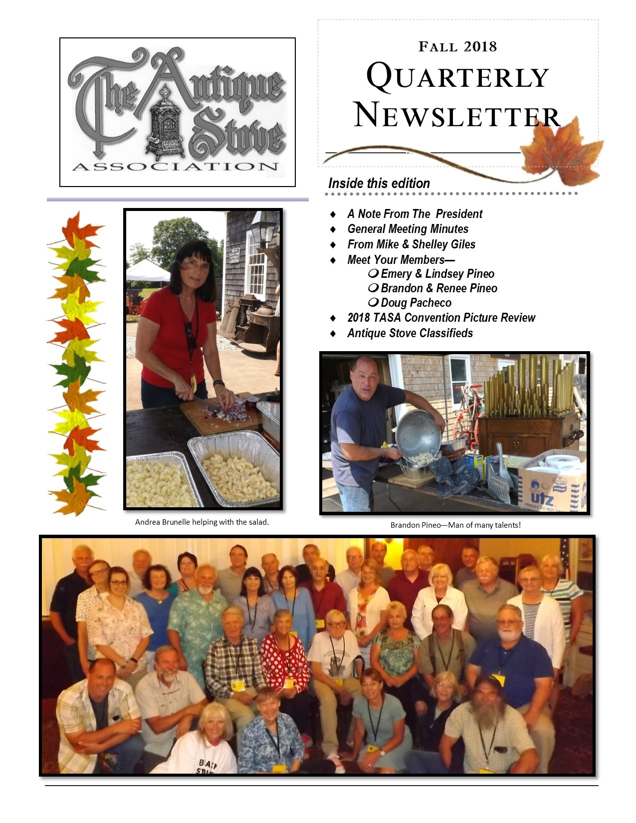 Antique Stove Association Fall 2018 Newsletter