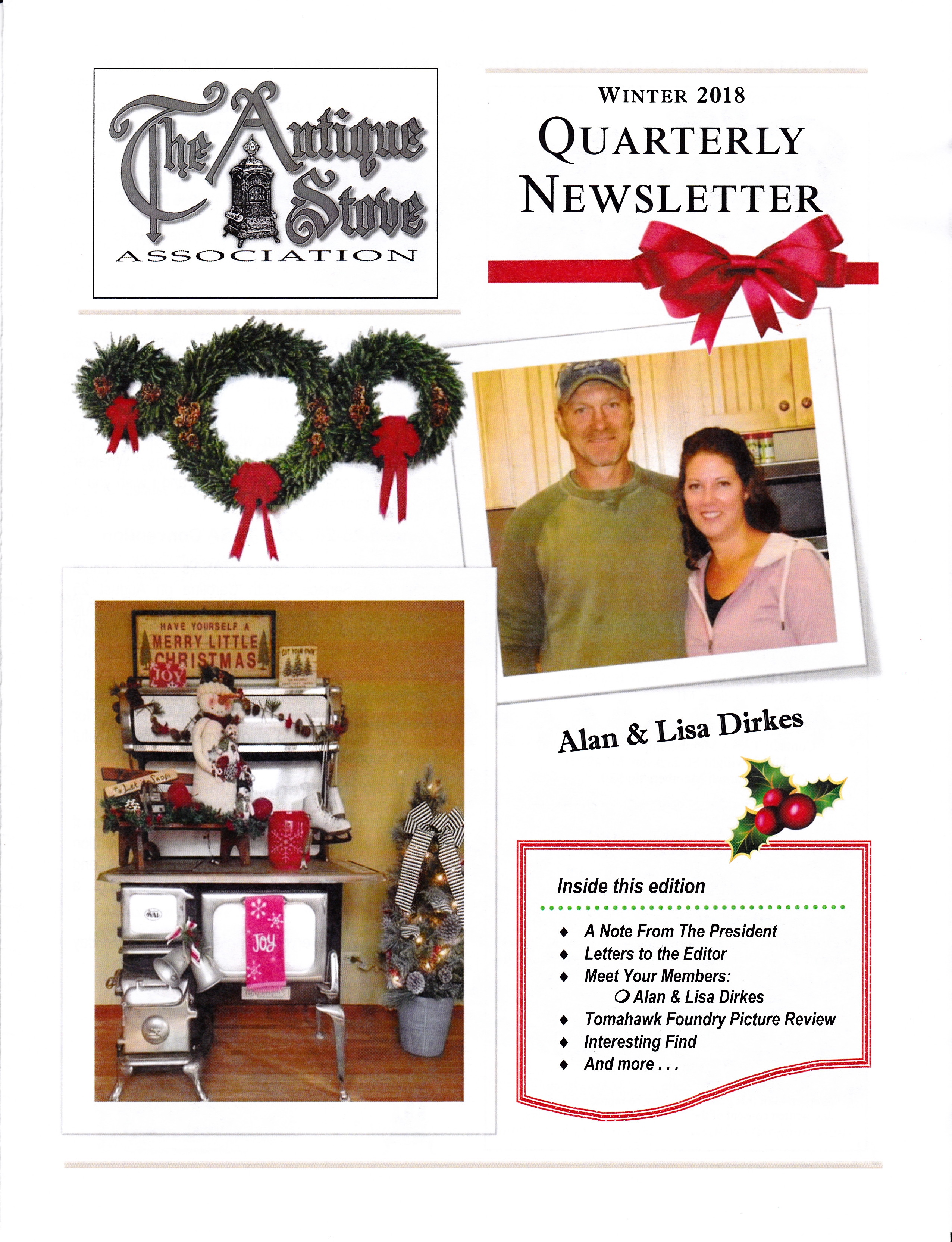 Antique Stove Association Winter 2018 Newsletter
